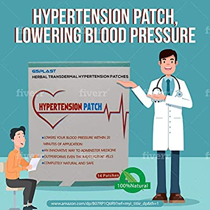 42 Patches 3 Boxes Organic Heat transdermal Hypertension Patch