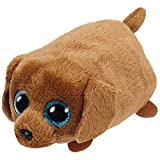 Ty- Perro Peluche, Juguete, Color marrón, 10 cm (United Labels Ibérica 42214TY)