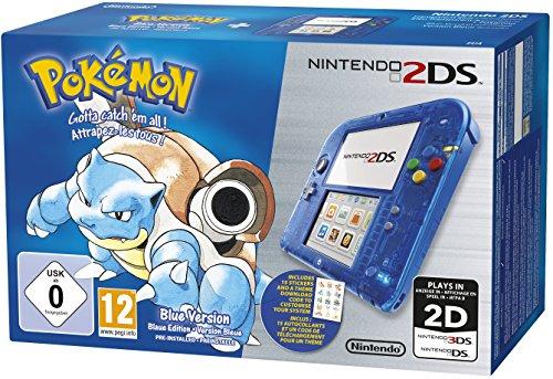 Nintendo 2DS - Konsole (Blau Transparent) inkl. Pokémon Blaue Edition