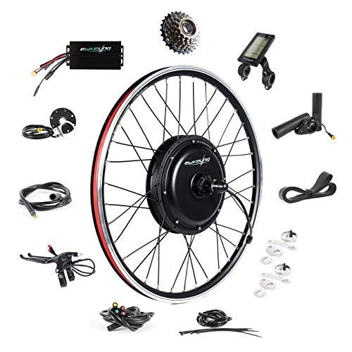 "EBIKELING 48V 1500W 26"" Direct Drive Waterproof Electric Bicycle Rear Wheel Ebike Conversion Kit (Rear/LCD/Thumb)"