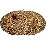 Material: 100% Jute, braided Size: 35 CM / 14 INCH Round diameter Round placemats add a new style to your table setting. It compliments your dinner ware and the wooden interiors of your home Care Instructions: Spot clean with a damp cloth and mild de...