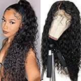 Persephone Natural Color Synthetic Wigs for Black Women Loose Curly Lace Front Wig with Baby Hair Heat Resistant 22