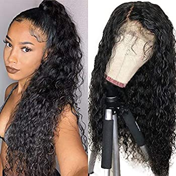 Persephone Natural Color Synthetic Wigs for Black Women Loose Curly Lace Front Wig with Baby Hair Heat Resistant 22 inch