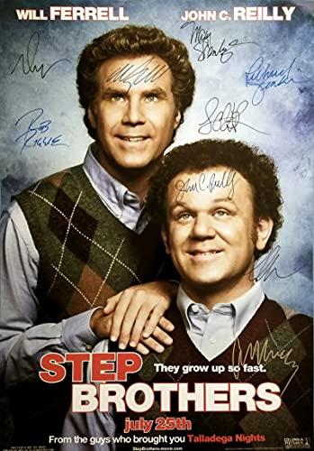 Cuadro de Arte de Pared Step Brothers Movie Signed Art Print Poster Decoración de la Pared del hogar 60x90cm