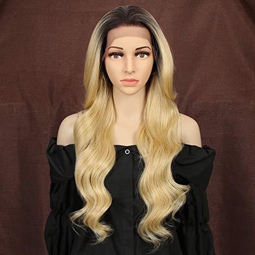 Style Icon Wigs Lace Front Synthetique 66cm Longue Perruque Ondulée 13x4 Dentelle Avec Raie Libre Perruque Pour Femmes Fibres Résistantes À La Chaleur