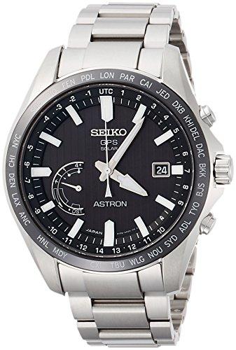 [セイコーウォッチ] 腕時計 アストロン GPSソーラー ストライプ文字盤 SBXB161 メンズ シルバー