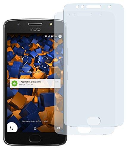 mumbi Schutzfolie kompatibel mit Motorola Moto G5S Plus Folie klar, Bildschirmschutzfolie (2X)