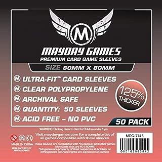 Premium Card Sleeves - 80mm x 80mm (50)