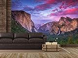 Oedim Fotomural Vinilo para Pared Anochecer Parque Nacional California   Fotomural para Paredes   Mural   Vinilo Decorativo  350 x 250 cm   Decoración comedores, Salones, Habitaciones