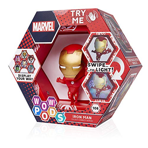 WOW! PODS Avengers Iron Man | Offizielles Marvel Superhero Leuchtende Wackelfigur | Sammelspielzeug