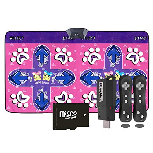 WYH Intéressant Danse Couverture TV dédiée à Double Maison Machine de Danse sans Fil Machine exécutant Jeu somatosensoriel Tapis de Yoga Couverture Sensible (Color : Pink)