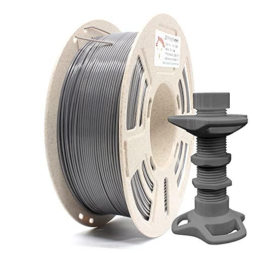 Reprapper Filamento PETG 1.75 (± 0.03 mm) per Stampante 3D, Forte e Perfettamente Avvolto su Bobina Riciclata, Grigio