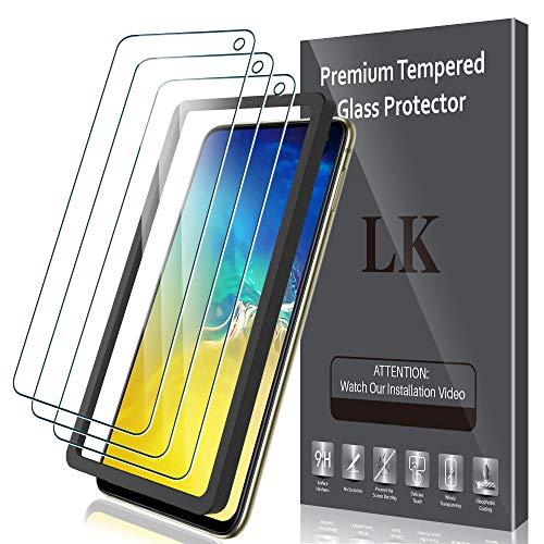 LK Compatible avec Samsung Galaxy S10E 5.8 Pouces Verre Trempé, 3 Pièces,Protection écran,Cadre d'installation Facile,Dureté 9H,Protection d'écran Verre Trempe Vitre