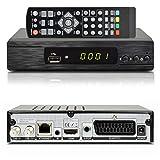Zehnder HX7145 HD Sat Digital HDTV Satelliten Receiver USB 2.0, DVB-S2, HDMI, SCART, EasyFind + deutsche Kanalliste vorinstalliert, schwarz