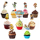 CODIRATO 45 Stück Cake Toppers Cupcake Stäbchen Paw Patrol Tortenstecker Torte Kuchendeckel Süße Kinder Kuchen Dekoration für Kinder Geburtstag Party Babyparty Familienessen