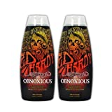 Lot 2 Ed Hardy Obnoxious Indoor Tanning Lotion Accelerator Bronzer Dark Tan Bed