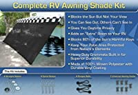 EZ Travel Collection RV Awning Shade Kit RV Shade Complete Kit 8x18 (Black)