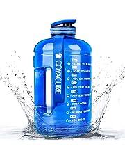 COVACURE Drinkfles Sport - 2,2 l / 3,78 l waterfles, grote sportfles, BPA-vrij, lekvrij, voor fitness, gym, thuis, kantoor, outdoor