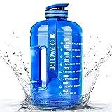 COVACURE Trinkflasche Sport - 3.78L Wasserflasche, Groß Sportflasche, BPA Frei, Auslaufsicher, für Fitness, Gym, Heim, Büro, Outdoor (Blau)