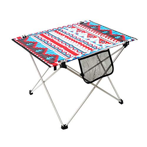 XIAO Mesa Plegable De Aluminio Al Aire Libre Barbacoa Portátil para Acampar