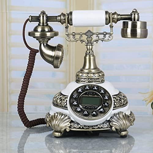 TAIDENG Teléfono decoración Modelo hogar Escritorio decoración teléfono Continental Estilo casa teléfono Fijo Fijo línea Retro Creativo Vintage Antiguo teléfono (Color : B, Size : L25CM*H26CM)