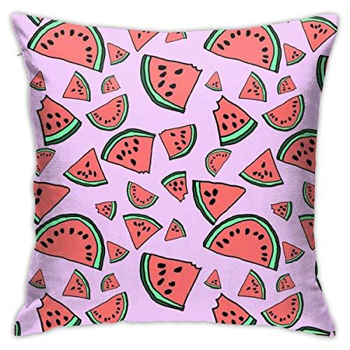 shenguang Watermelon Tropical Fruit Series for Cool Summer Vibe Tirar Almohadas, Fundas de Almohada, Floor Fundas de Almohada, Sofás, Cushion Covers, Cojín de Coche Backrest Covers ✅