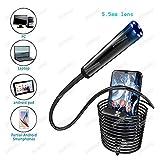 CHEdnh-Hk Endoscopio Endoscopio cámara Boroscopios Mini cámara USB Conveniente for la PC, el teléfono Android para inspección de hendiduras (Cable Length : 2m, Color : 8mm Lens)