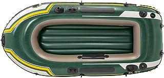 Kayak Hinchable Explorer Bote de pesca inflable for dos personas Espesor de bote de remo de goma for dos personas / Verde militar for enviar remos y bombas ( Color : Verde , tamaño : 236×114×41CM )