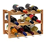 Relaxdays 10019279–Botellero pequeño 28x 42,5x 21cm Madera Estante con...