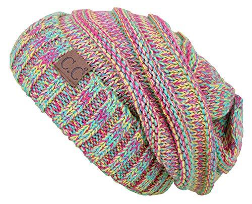 Oversized Slouchy Beanie - Rainbow (#11)