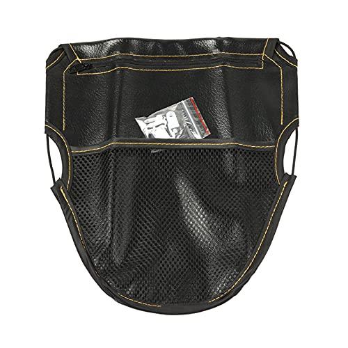 Funda de cuero para motocicleta bajo el asiento, bolsa de almacenamiento, accesorios profesionales