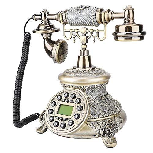 Teléfono Fijo Antiguo, Teléfono Residencial De Material De Resina para Accesorios De Tripulación para Un Regalo Maravilloso