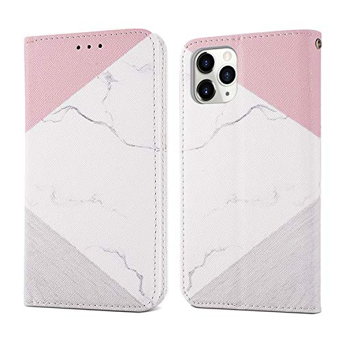 ZCDAYE Marble Wallet Case for iPhone 11 Pro Max,[Granite Marble Pattern] Magnetic Closure PU Leather Folio Flip Case Cover with[Card Slots][Kickstand] for iPhone 11 Pro Max 6.5 inch - White