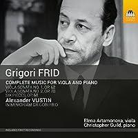 グレゴリー・フリード:ヴィオラとピアノのための作品全集