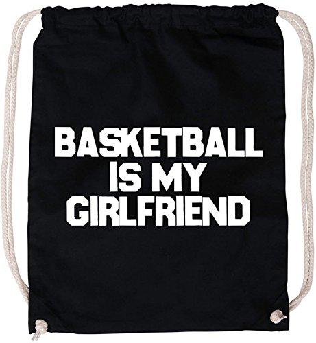 EZYshirt® Basketball is my girlfriend Baumwoll Stoffbeutel