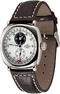 Zeno Watch Basel - Reloj para Hombre Analógico Meccanico con Brazalete de Cuero 400-i21