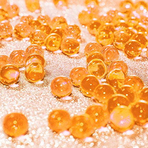Attention :Water gel beads will grow after absorbing water.Size: the water crystal beads are about 2 - 2.5 mm in diameter; They will grow up to about 11 - 13 mm after soaking in water for 2 - 12 hours