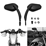 Black Motorcycle Rearview Side Mirrors For Harley-Davidson...