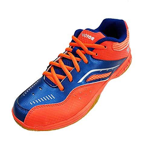 Victor SH-0801 Badminton Court Shoe, Cherry Tomato/True Blue (M8)