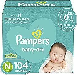 A box of baby diapers
