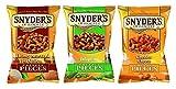 Merienda de pretzel de Snyder's de Hannover, queso cheddar, hon / must / cebolla, jalapeño, juego de 3, (3x125g)