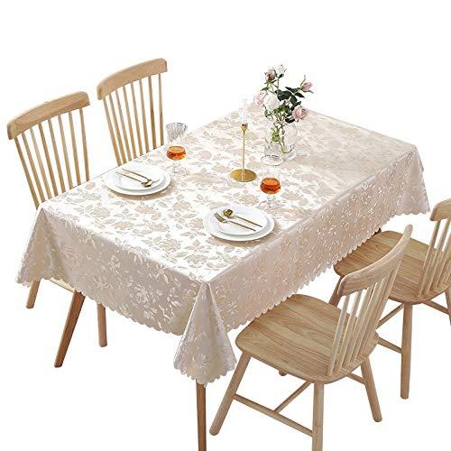Mantel de PVC de Flor Oscura de Estilo Europeo, Mesa de Centro Impermeable y a Prueba de Aceite, Mesa de Comedor, Mantel domestico, plastico Rectangular
