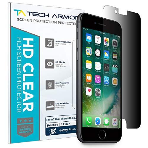 Tech Armor - Displayschutz für Apple iPhone 7 Plus Apple iPhone 7 Plus/iPhone 8 Plus (5.5 inch) - 4-Wege 360° Blickschutz - 1 Stück