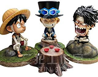 3Pcs/Set Anime Luffy Ace Sabo Gk PVC Action Figure 14 cm Holiday Must Haves Boy Gifts Childrens Favourites Superhero Birthday LOL UNbox