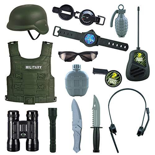 Delili Polizei Kostüm Kinder, Militärisches Modellzubehör, Militäranzug Zur Leistungssimulation Am Kindertag