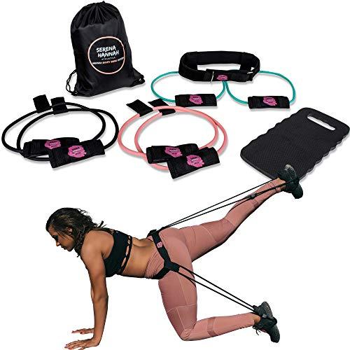 Hannah Booty Band System Complete Brazilian Butt-Lift Workout Program: Contains 3 Resistance Bands, Workout Videos, Nutrition Guide, Calender, Waistband, Mat