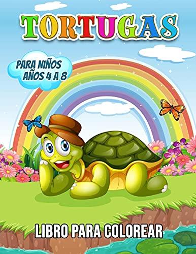 Tortugas Libro para Colorear para Niños Años 4 a 8: 40 Ilustraciones únicas para Colorear, un Libro para Colorear para Niños con Datos Interesantes y Divertidos sobre las Tortugas Marinas