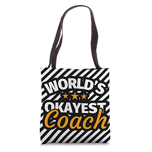 Gifts for Coaches - Funny Coach Gift Coach Humor striped / Tote Bag