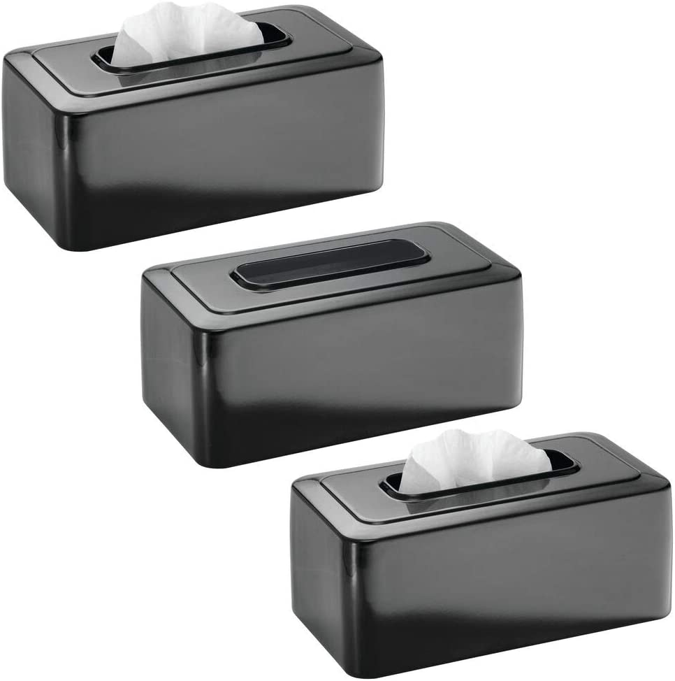 mDesign Modern Max 74% OFF Metal Very popular! Tissue Box Disposable for Paper Facia Cover