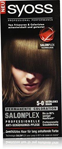 Syoss 5-0 Natürliches Braun Haarfarbe, 3er Pack (3 x 115 ml)